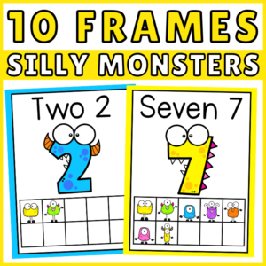 Silly Monster 10 Frames Counting Preschool