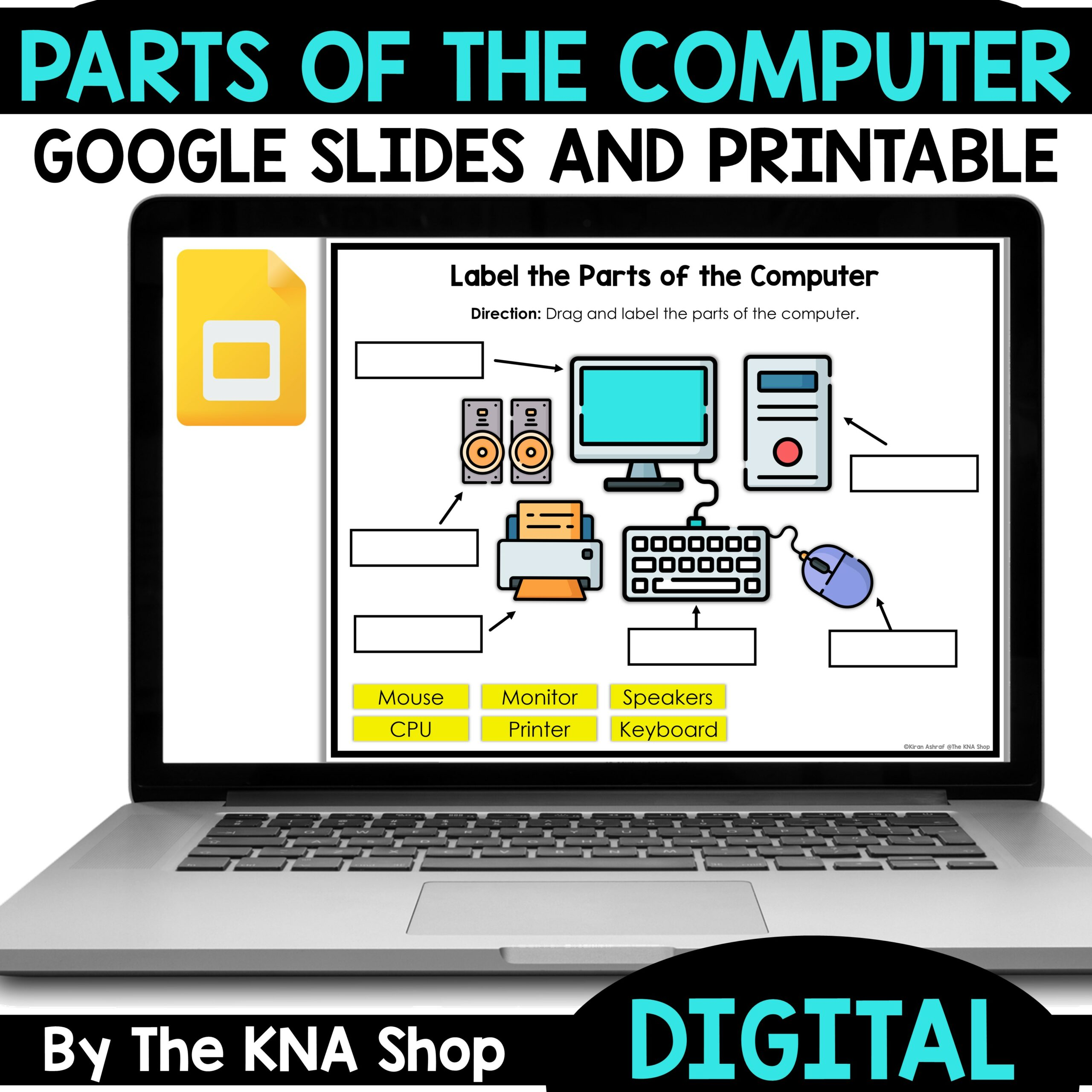 Parts of a Computer Activities
