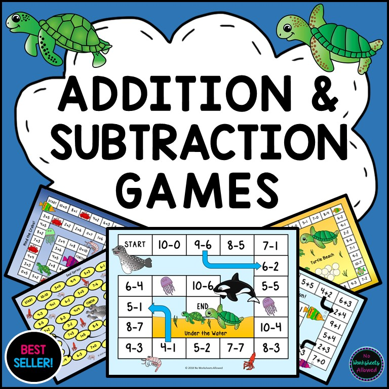 Kindergarten Addition and Subtraction Games Printable