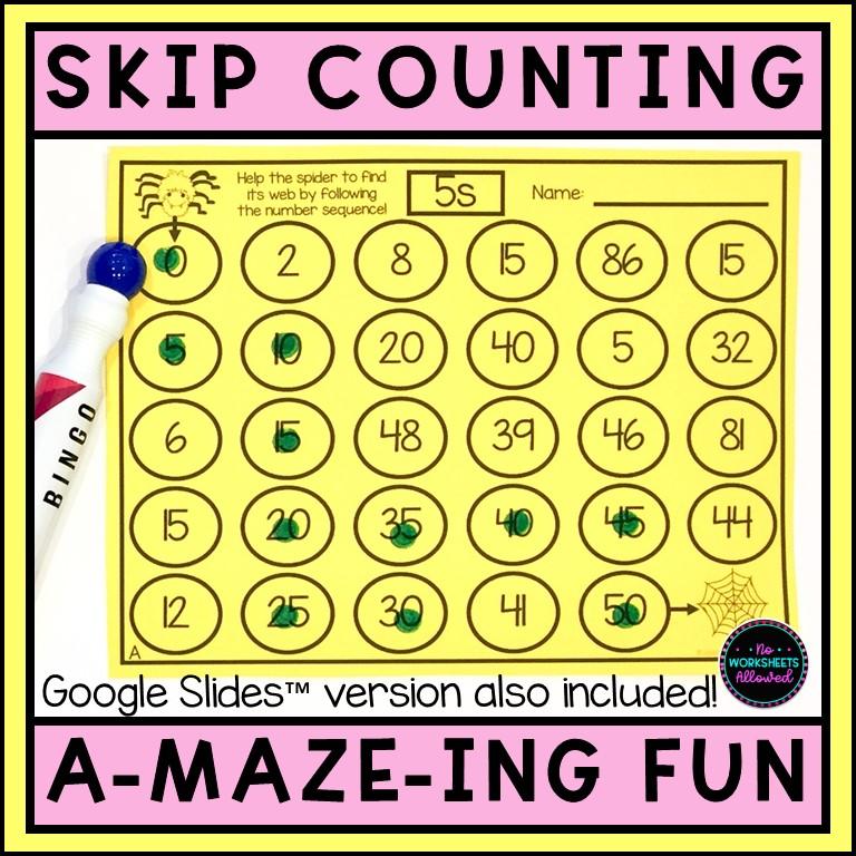 Skip Counting Worksheets Printable