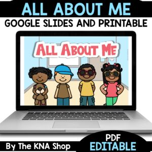 All About Me Back To School Printable PDF and Slides