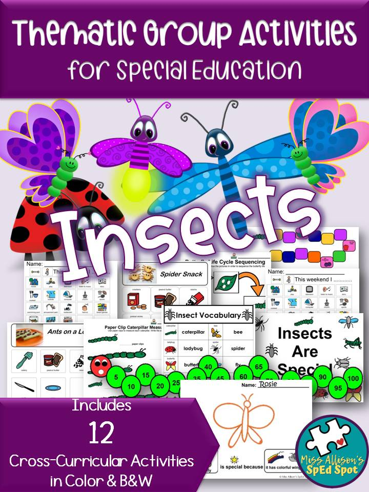 Insects Thematic Group Activities for Special Ed
