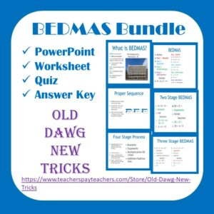 BEDMAS Math Activities and Worksheets Printable