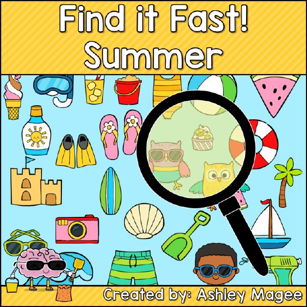 1st Grade Summer Activities Printable