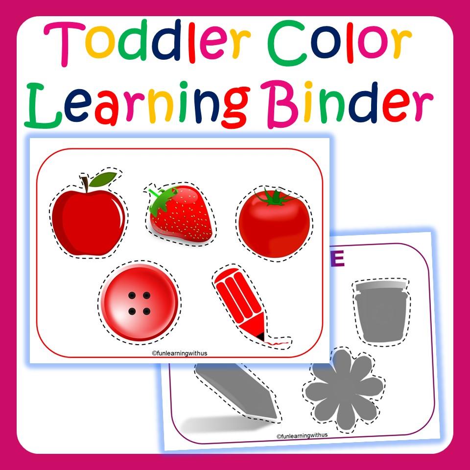 Color Learning Printable Binder