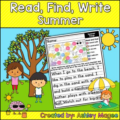 First Grade Summer Writing Printable Work