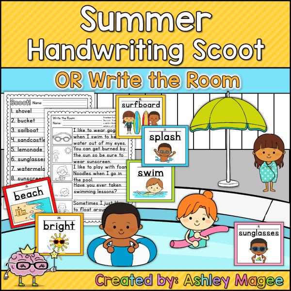 Summer Handwriting Scoot Printable