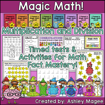 Printable Multiplication and Division Timed Tests