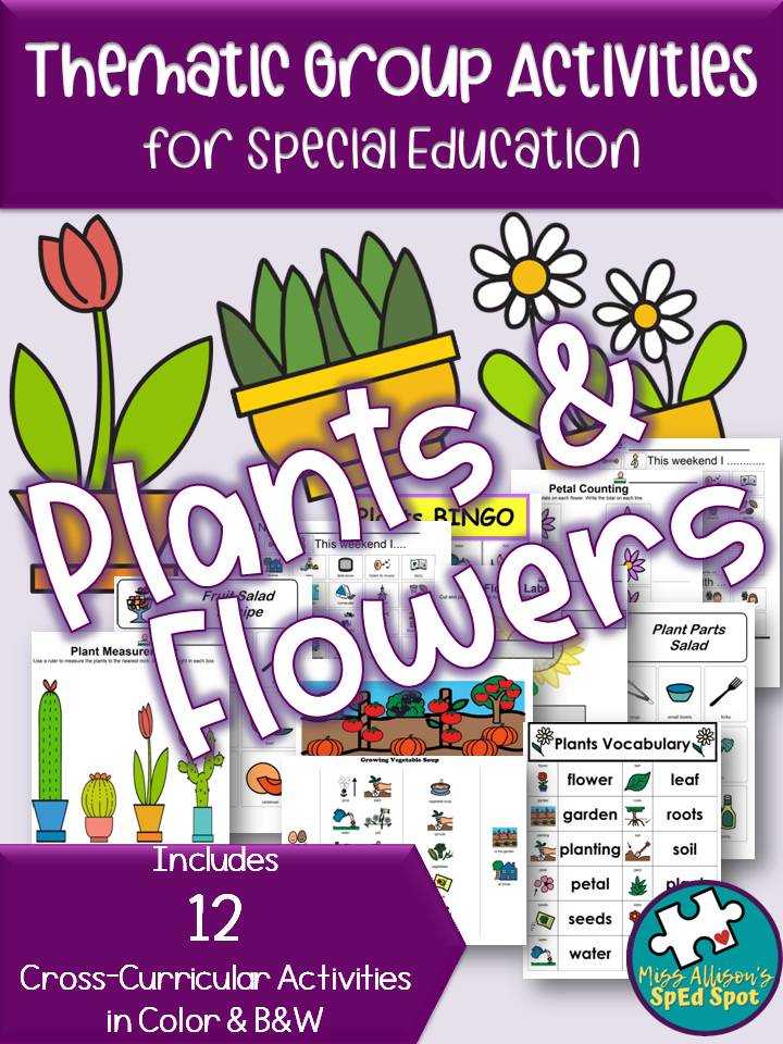 Plants and Flowers Thematic Unit Printable