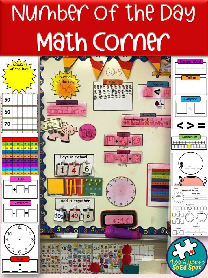 Math Number of the Day Printable Decor