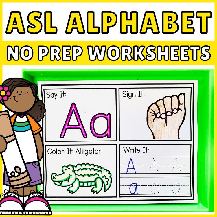 Printable ASL Alphabet Worksheets