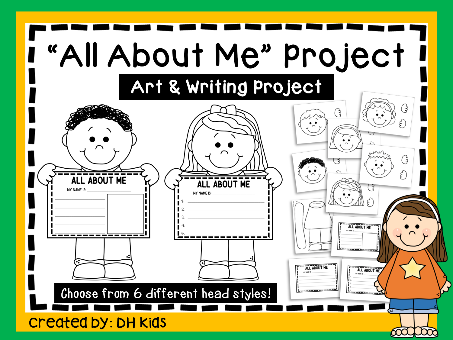 All About Me Printable Art Project
