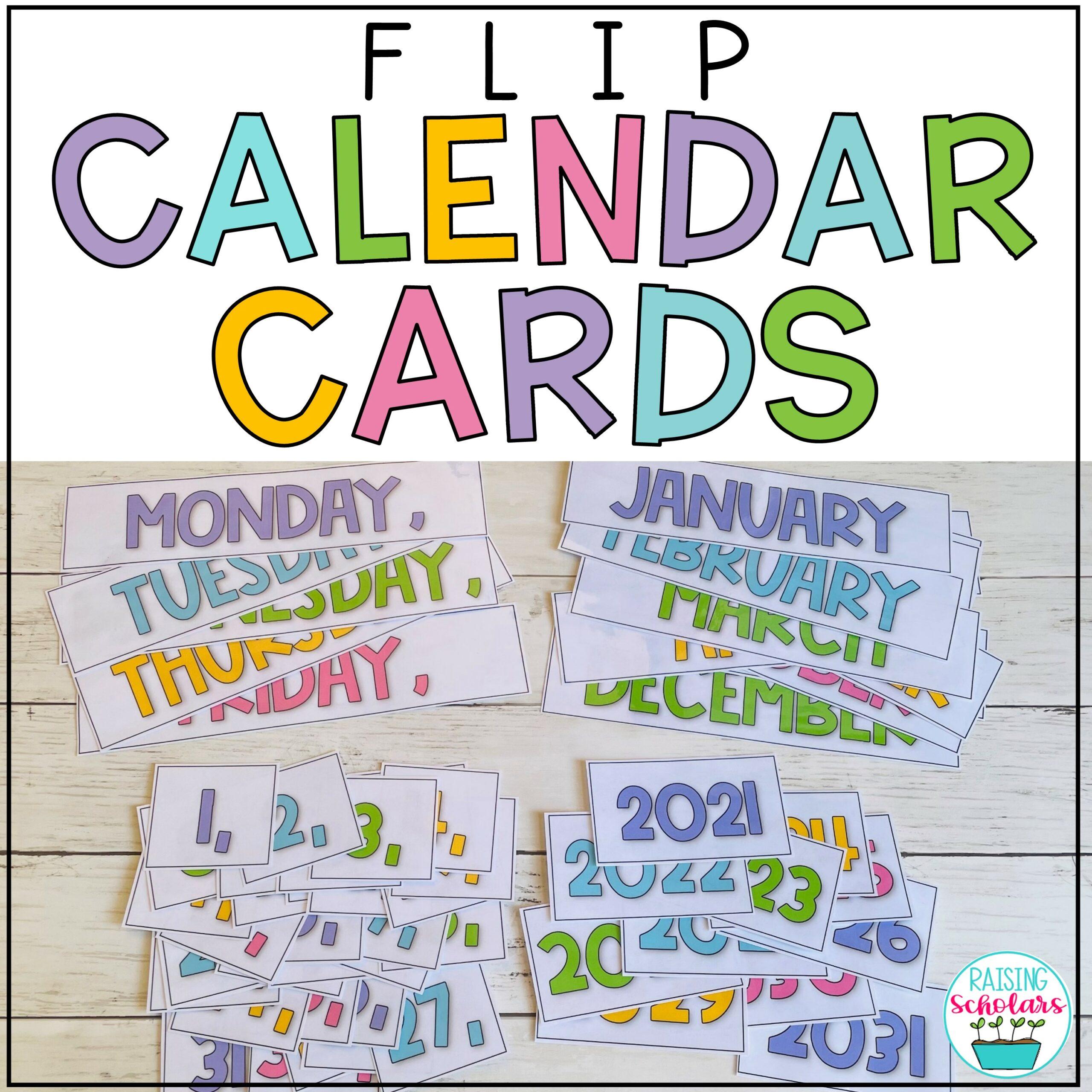 Printable Flip Calendars Decor