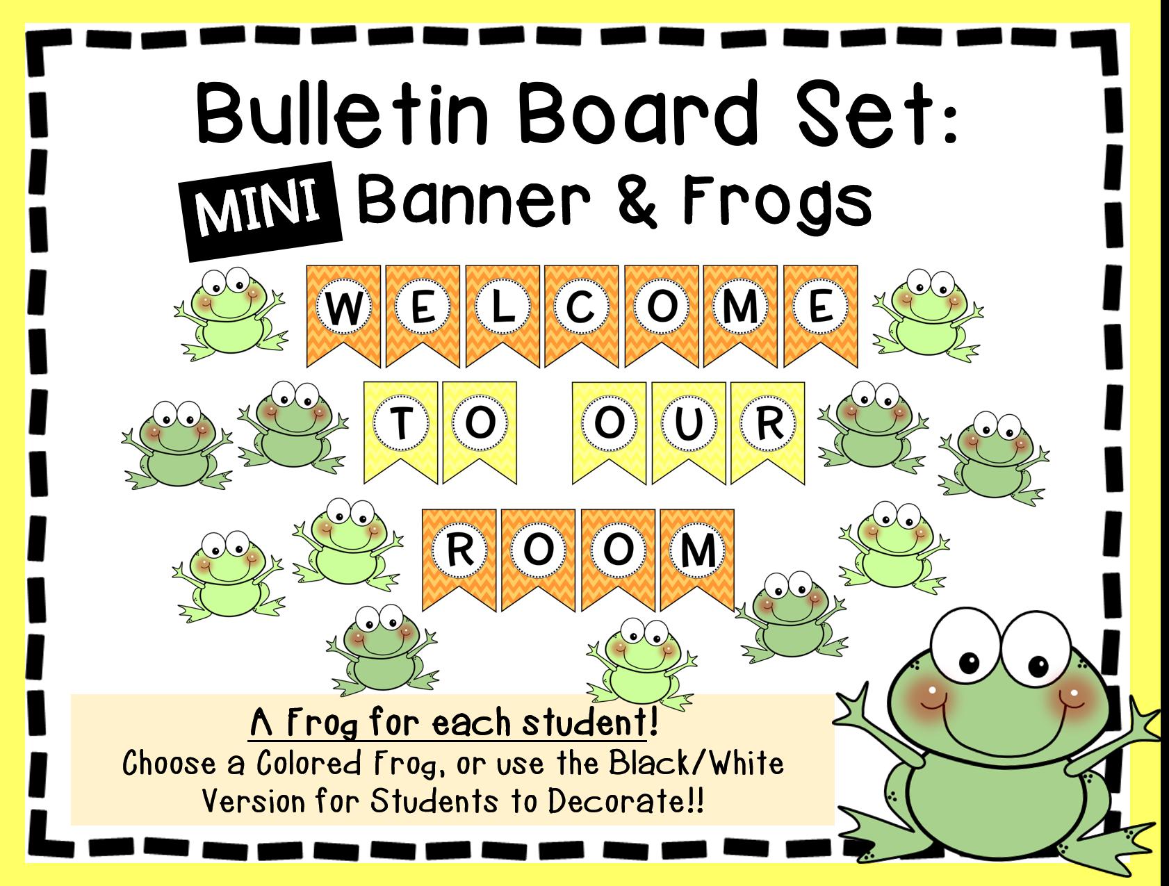 Frog Bulletin Board Set Printable