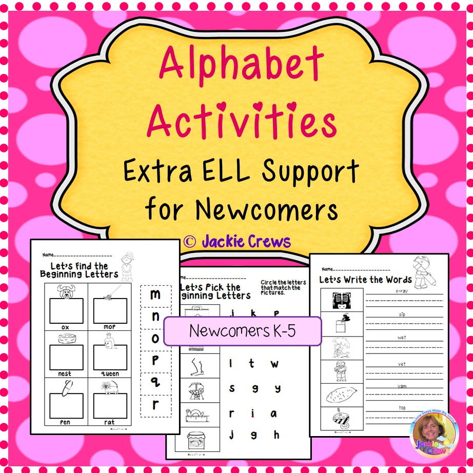 Alphabet Activities for ELL Newcomers Printable Work