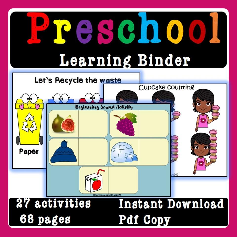 Printable Preschool Learning Binder