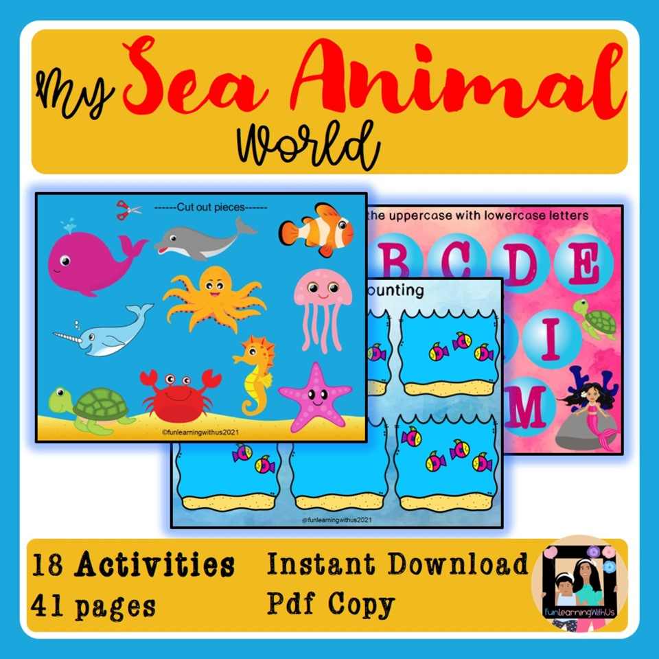 Preschool Sea Animal Activities PDF Printables