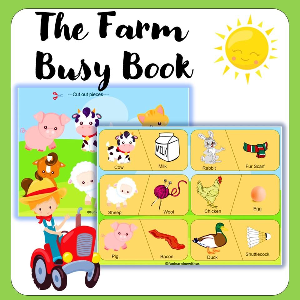 Preschool Farm Animals Busy Book PDF Printable