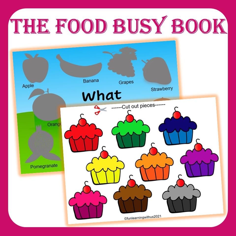 Preschool Yummy Food Busy Workbook PDF Printable