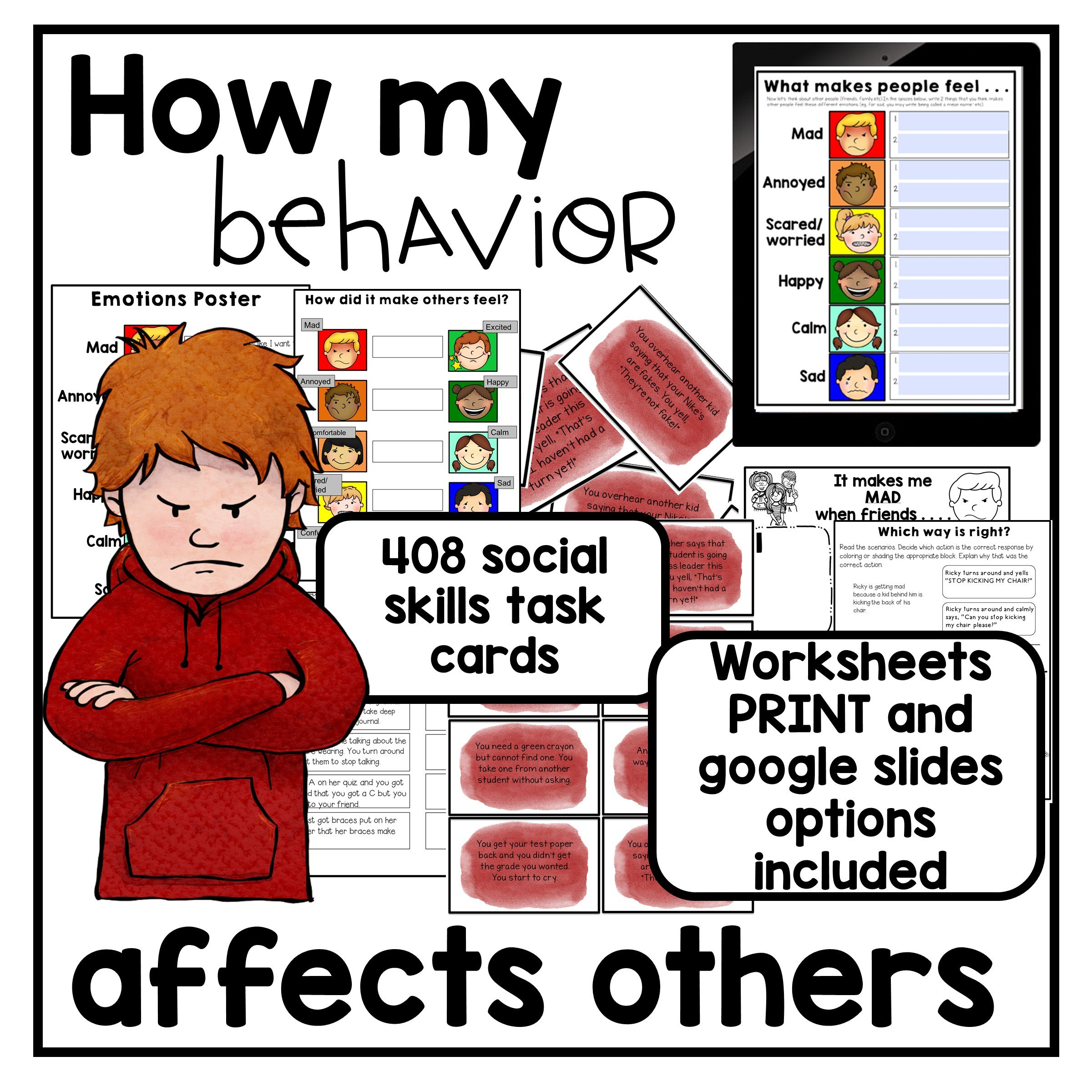Autism Activities About How My Behavior Affects Others Printable