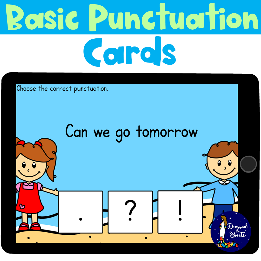 End Marks Punctuation Boom Cards Practice