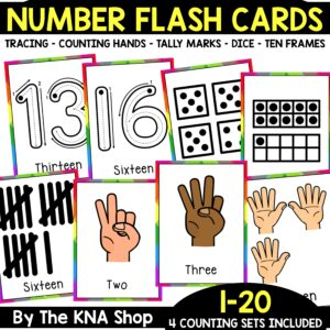 Printable Number Counting Flash Cards PDF
