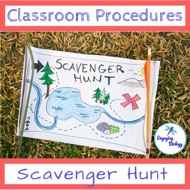 Editable Class Procedures Activities Scavenger Hunt Printable