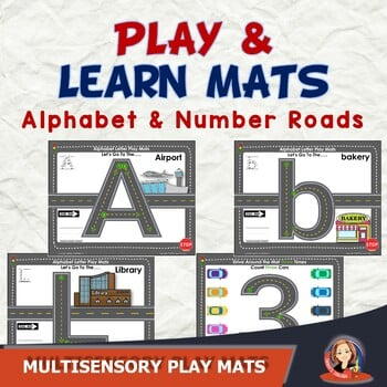 Printable PDF - Alphabet and Number Play Mats