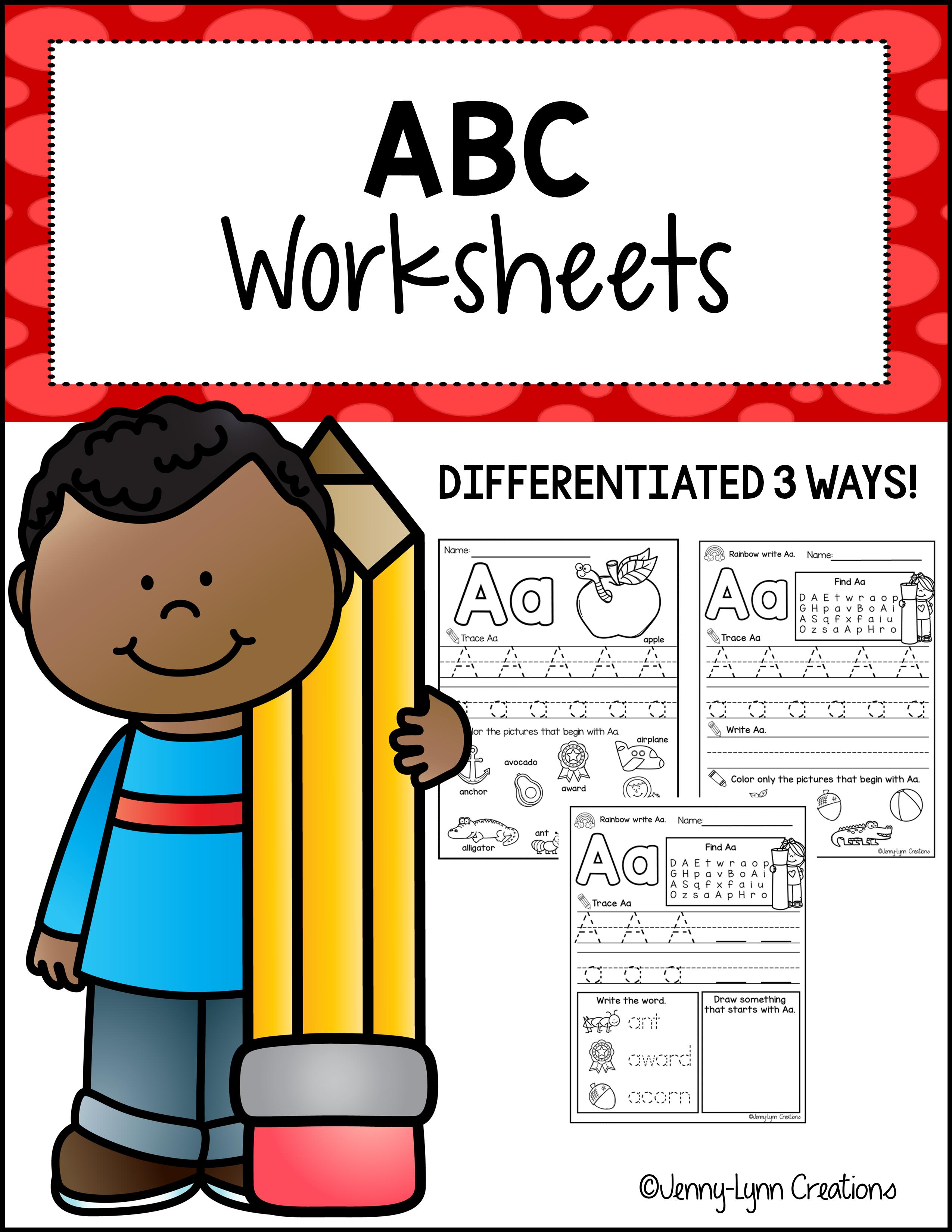 ABC Worksheets - Printable PDF Activities