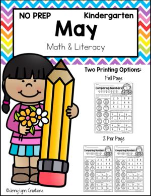 Kindergarten May Math and Literacy Workbook