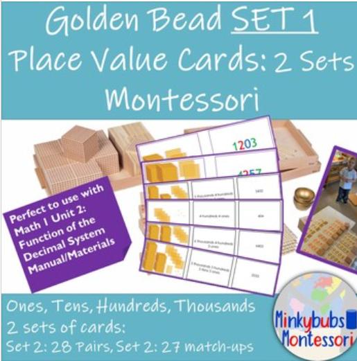 Printable Montessori Place Value Cards