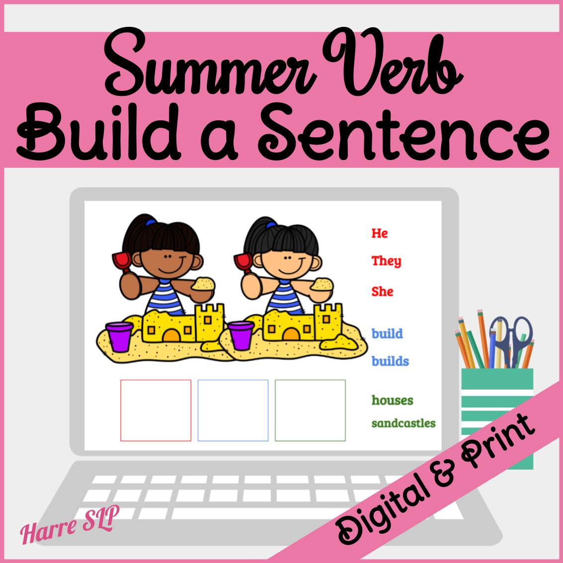 Build A Sentence Printable Worksheets PowerPoint and Google Slides