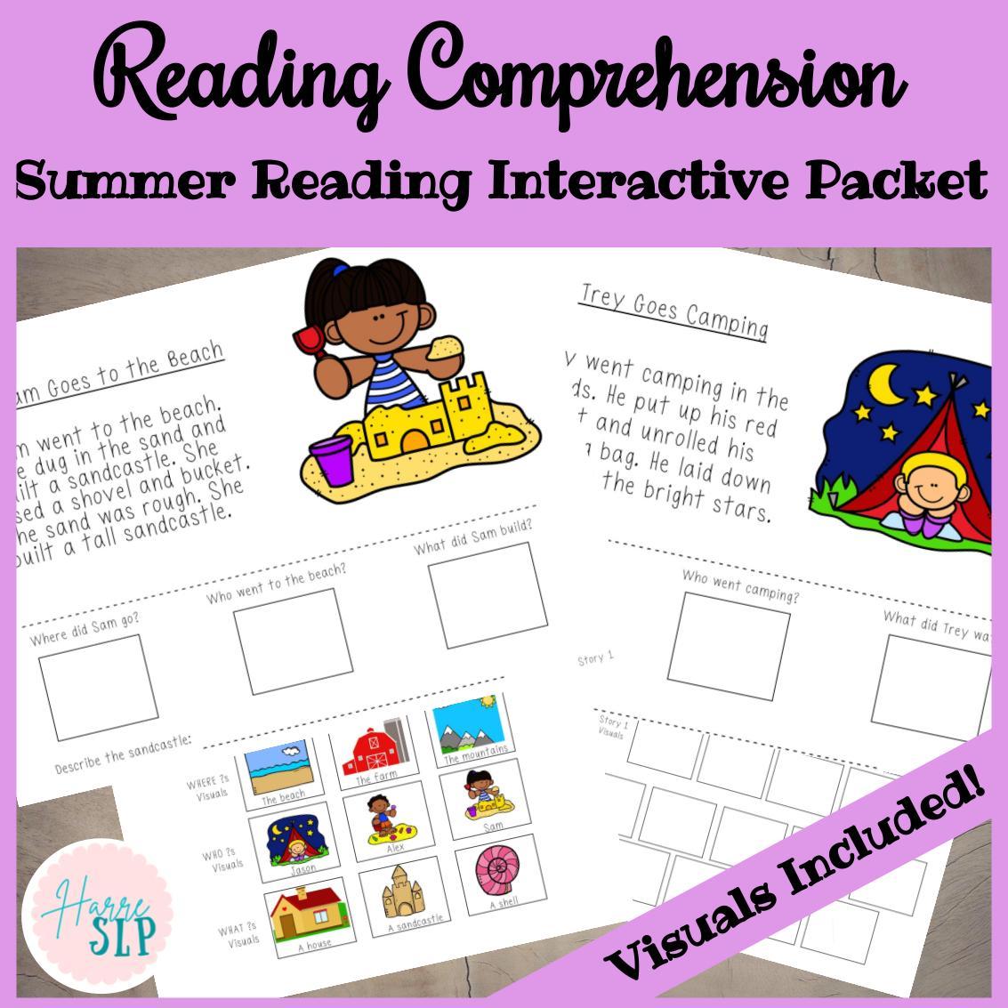 Summer Reading Comprehension Kindergarten Printable PDF