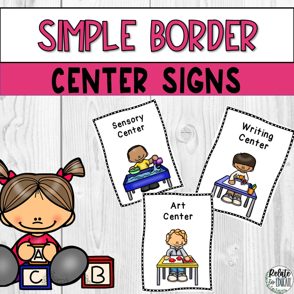 Printable Centers Signs for Elementary Classrooms