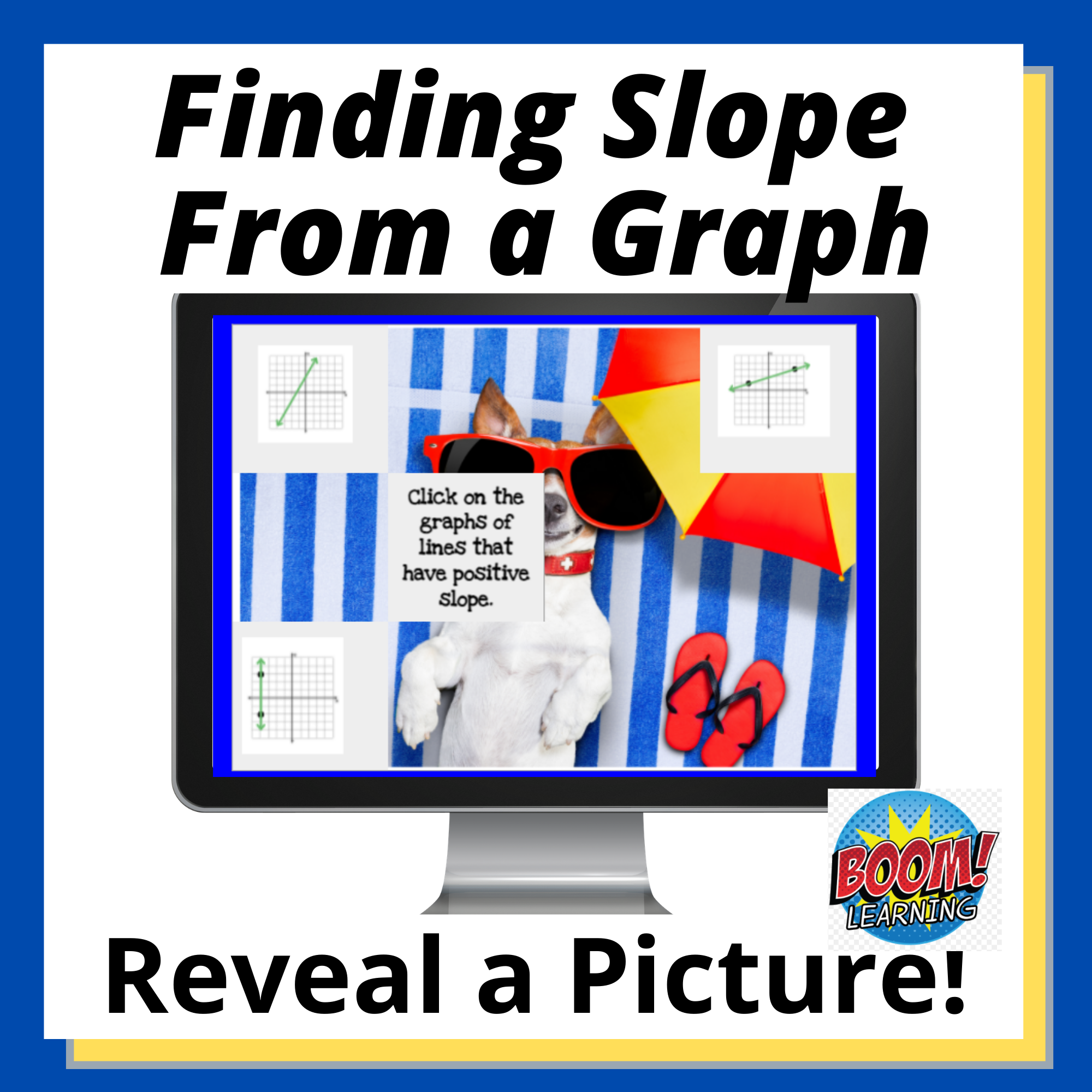 Finding a Slope from a Graph Boom Card