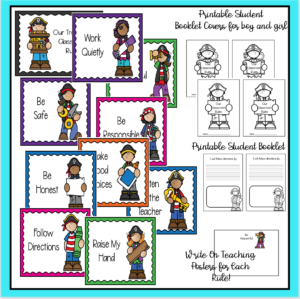 Printable Pirate Theme Class Rules Poster