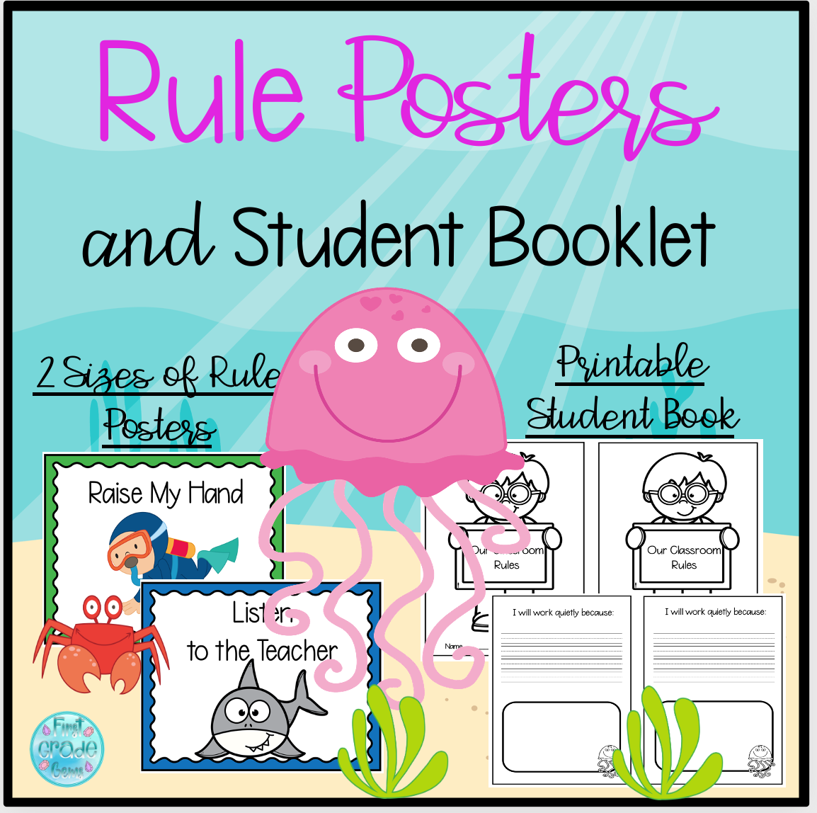 Printable Class Rules Posters and Student Booklet