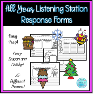 Listening Station Response Forms for All Year - Printable PDF
