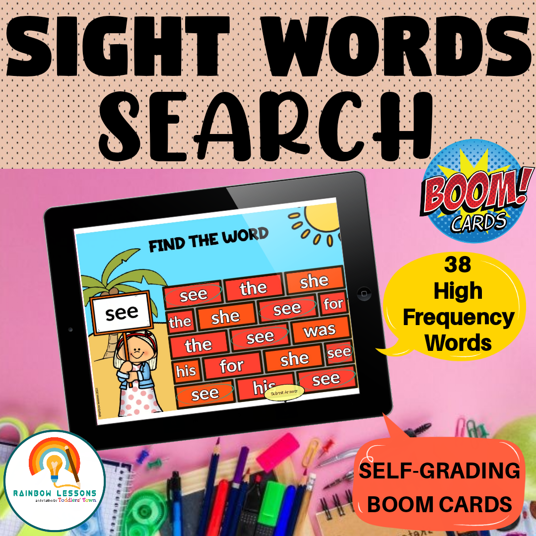 Boom Cards Sight Words   Frys Sight Words