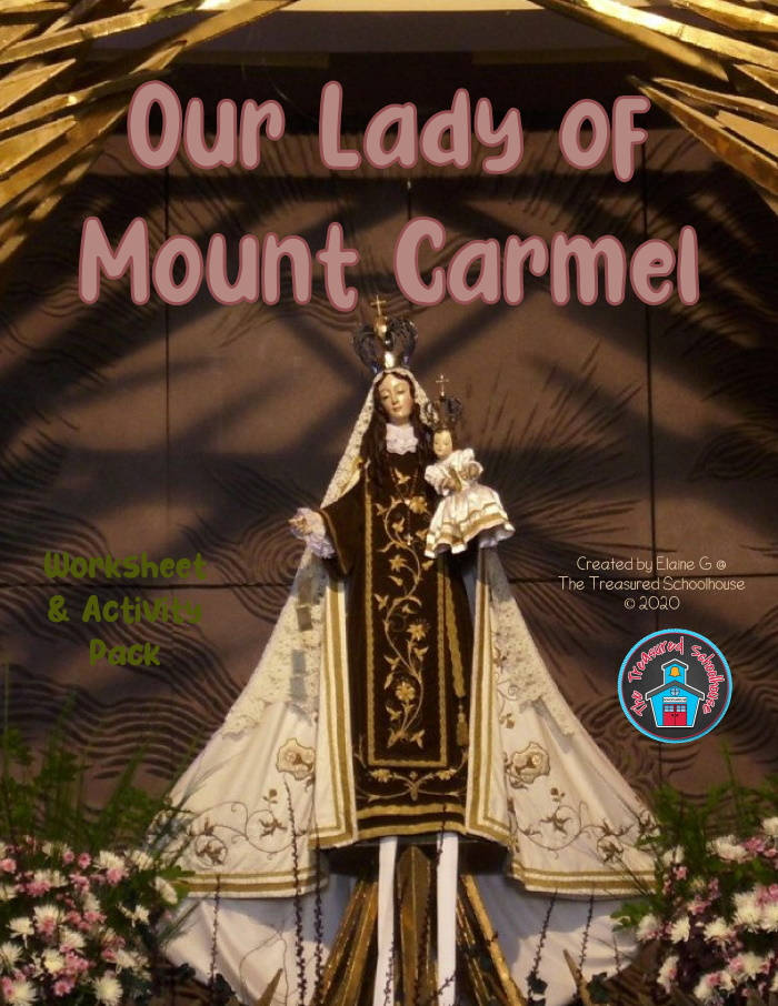 Our Lady of Mount Carmel Worksheet and Activity