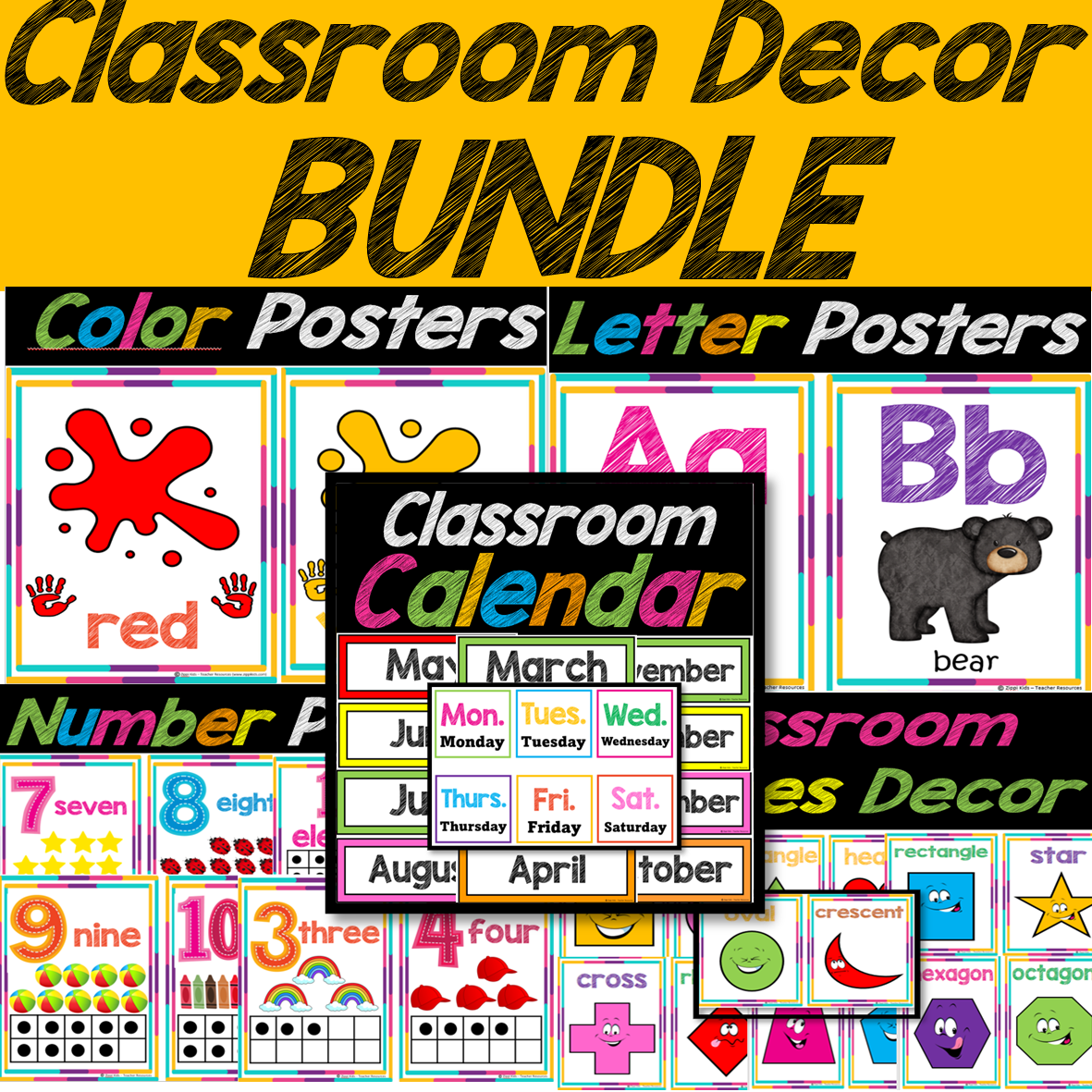 Back to School Classroom Decor Posters to Print