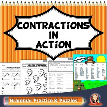 Contraction Printable Practice Worksheets