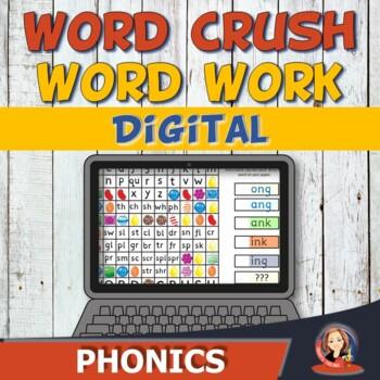 Digital Phonics Word Work Game - Word Families