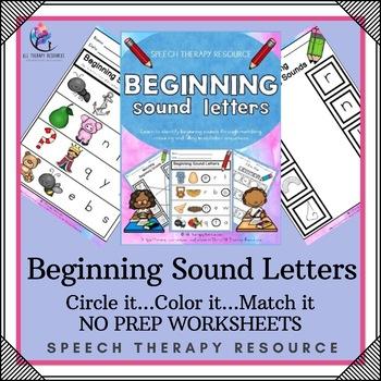 Beginning Sounds Printable Workbook