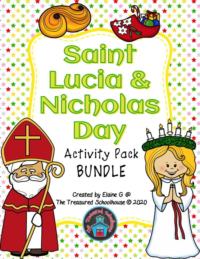 Saint Lucia and Nicholas Day Printable Activities