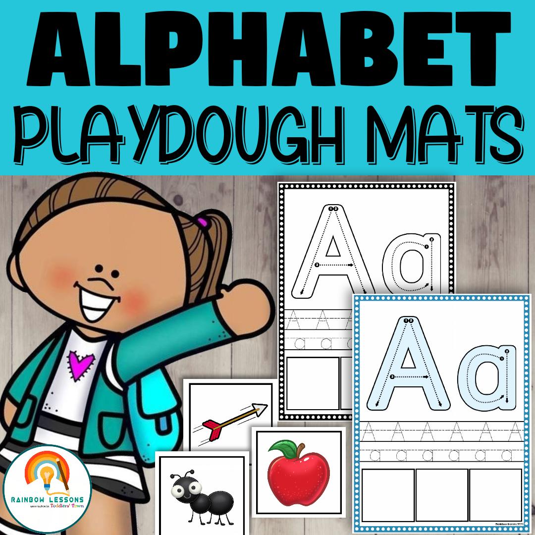 Alphabet Playdough Printable Mats
