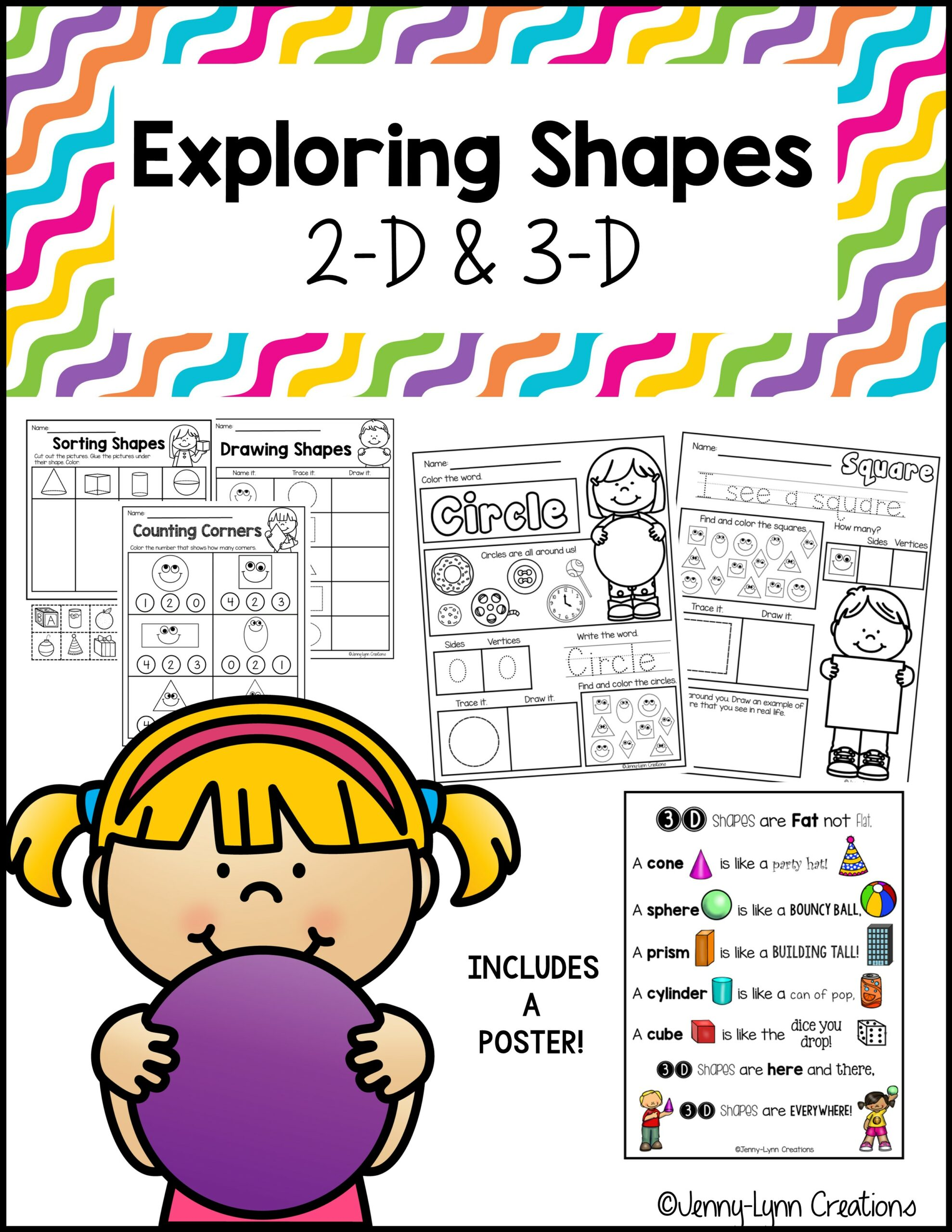 2D and 3D Shapes Printable Activities
