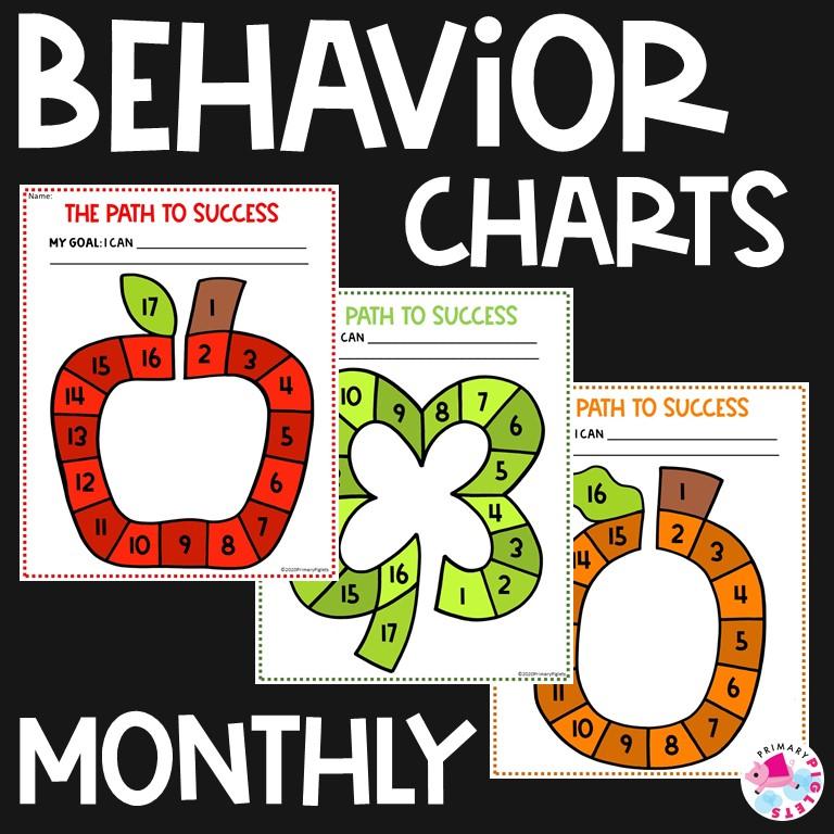 Printable Classroom Monthly Behavior Charts