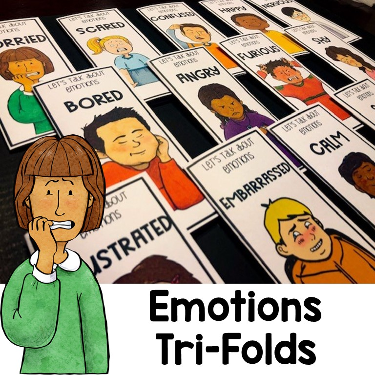 Teaching About Emotions and Feelings Printable Booklets