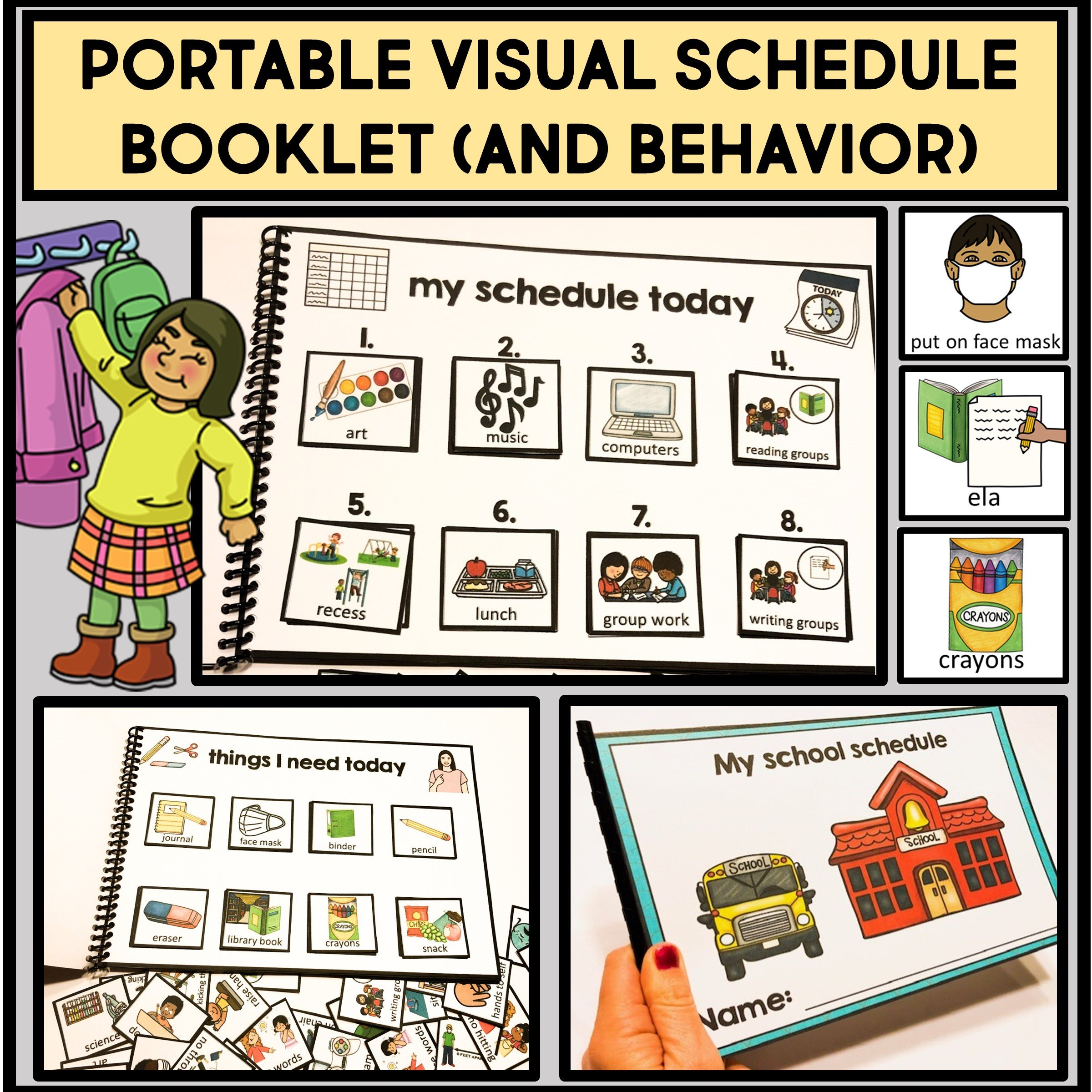 Portable Printable Schedule Booklet for Students
